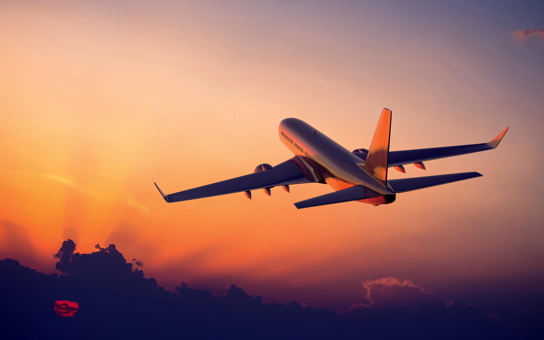 best-air-plane-sunset-HD-wallpaper